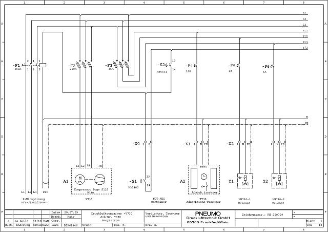 Tolle Kompressor Schaltplan Einphasig Ideen - Der Schaltplan ...